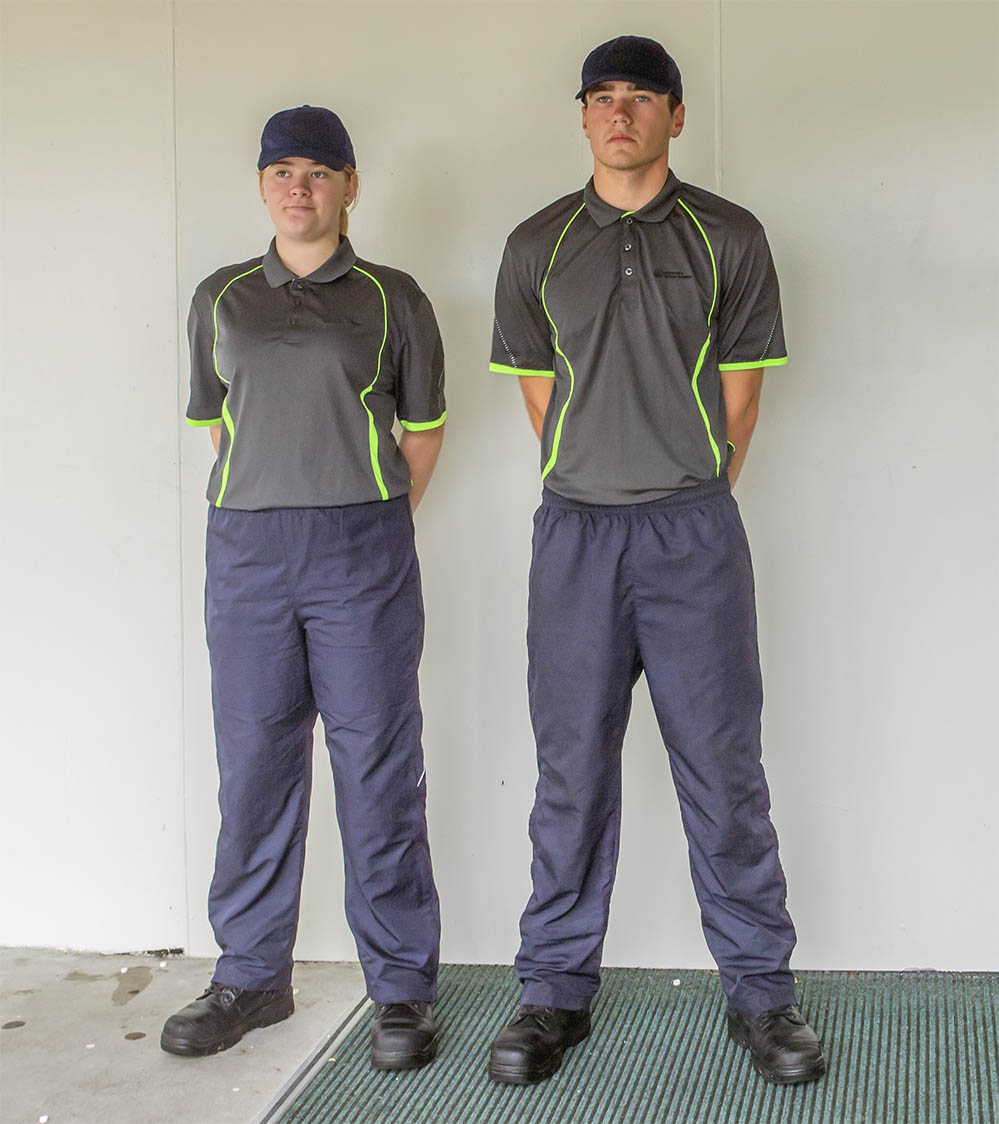 Two students wearing GHS uniform